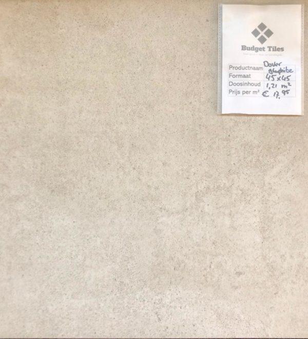 Dover graphite vloertegels 45x45 cm