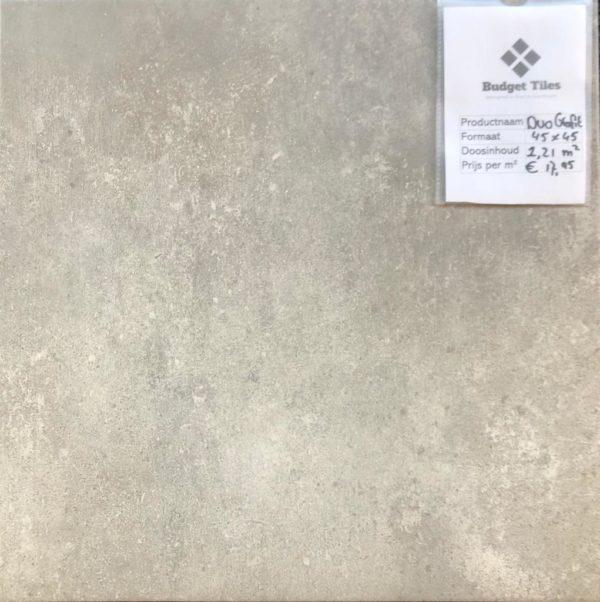 Duo grafiet vloertegels 45x45 cm